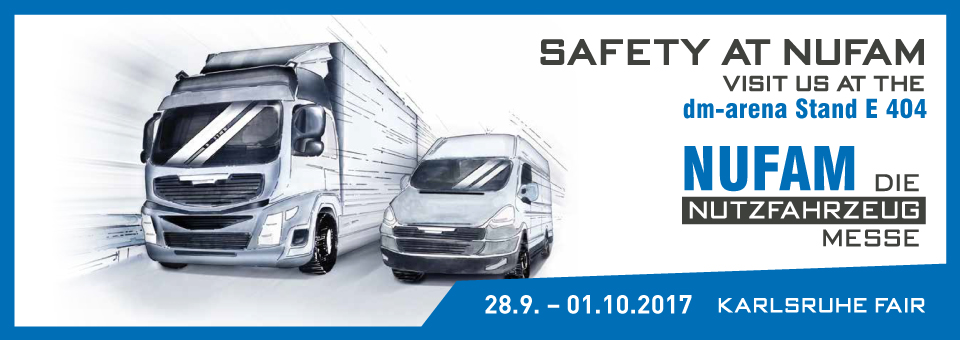 Safety at Nufam. Visit us at the dm-arena Stand E 404