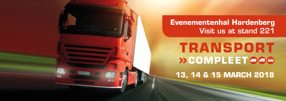 Visit us at stand 221 at Transport Compleet 2018