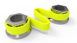 Fluoro yellow Checklink® CAD picture on nuts