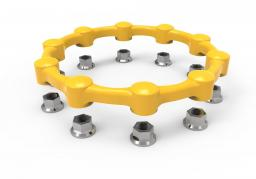 Safewheel™ - Yellow 10-stud 3D image